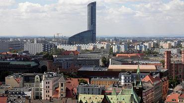 Widok na Wrocław z wieży kościoła św. Elżbiety