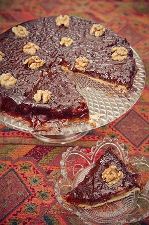 Ciasto jesienne śliwkowo-orzechowe