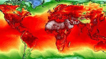 Maksymalna temperatura na świecie 25 lipca