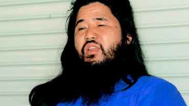 Zdj. z 1990 roku. Shoko Asahara, lider kultu Aum Shinrikyo, stracony 6 lipca 2018 r.