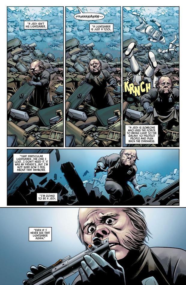 Co się stało z pierwszym mieczem świetlnym Luke'a Skywalkera?