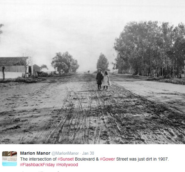 Hollywood Boulevard w 1907 roku