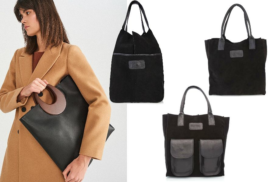 czarne torebki pojemne