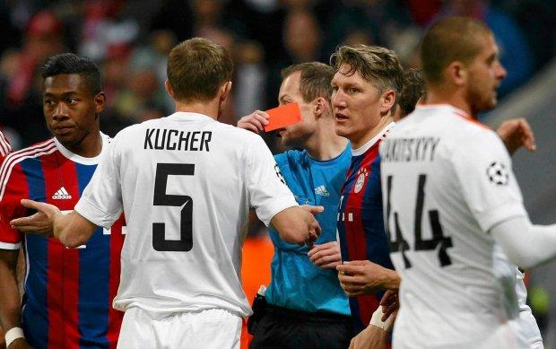 Liga Mistrzów. Bayern - Szachtar. Najszybsza czerwona kartka w historii