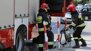 Akcja ratownicza straży pożarnej (zdjęcie ilustracyjne).