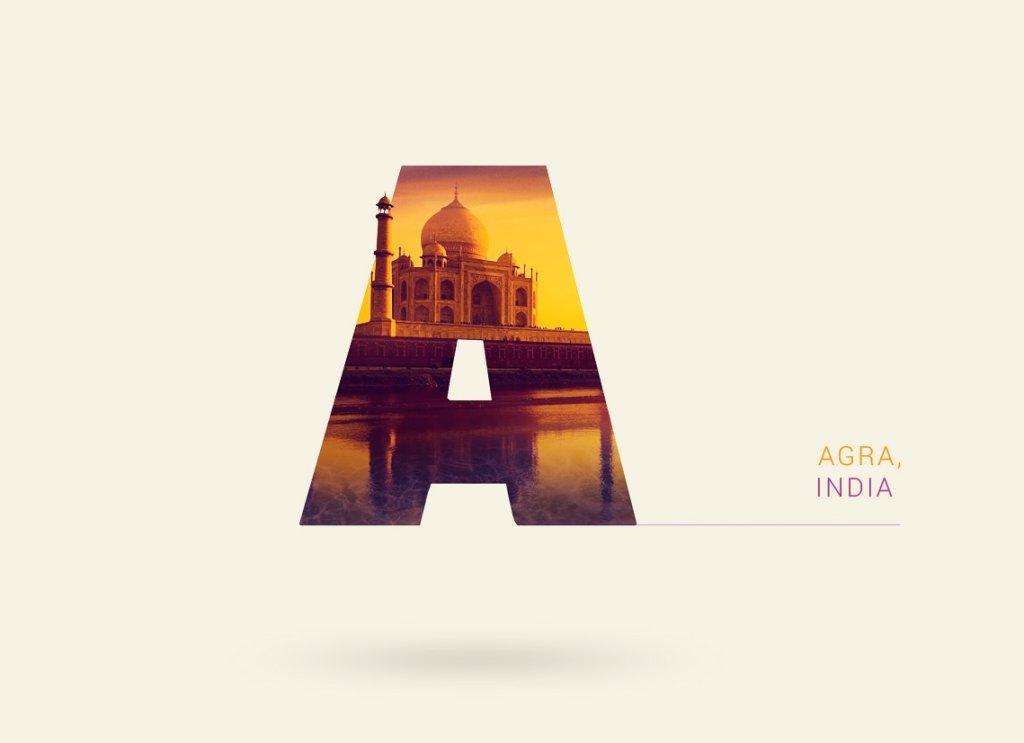 Geograficzny alfabet - Agra, Indie