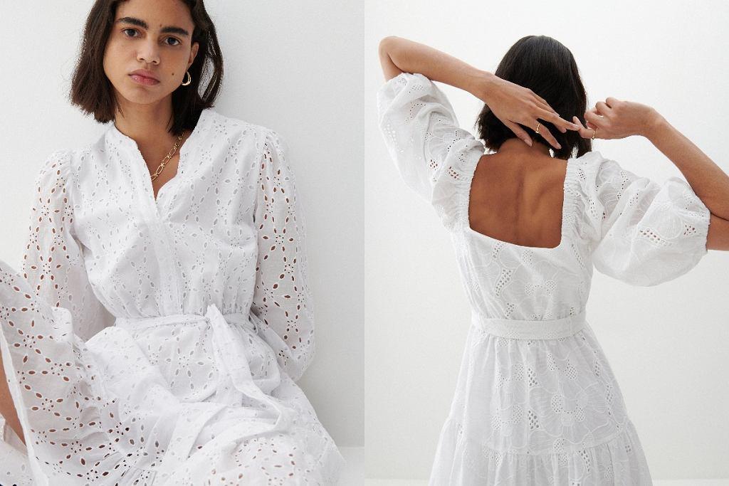 Ażurowe sukienki midi