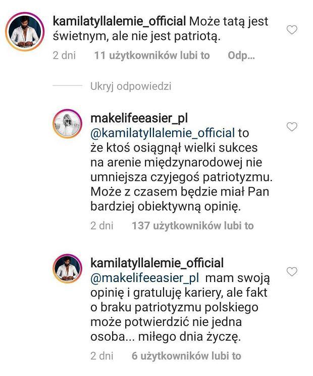 Komentarze na Instagramie Kasi Tusk