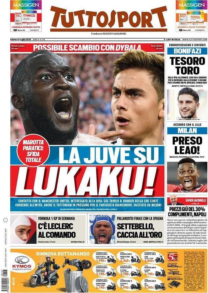 Dybala out, Lukaku in? Tuttosport pisze o transferach Juventusu
