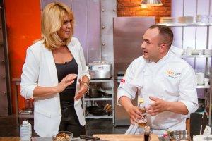 Ewa Wachowicz na planie Top Chefa