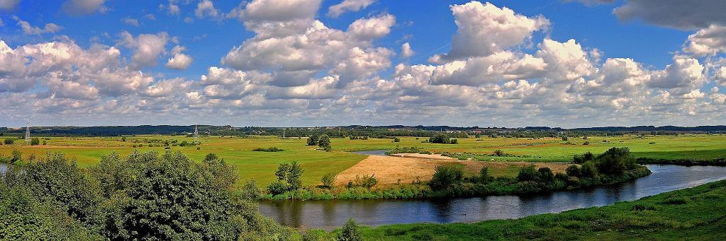 Meandrująca Narew w pobliżu Łomży