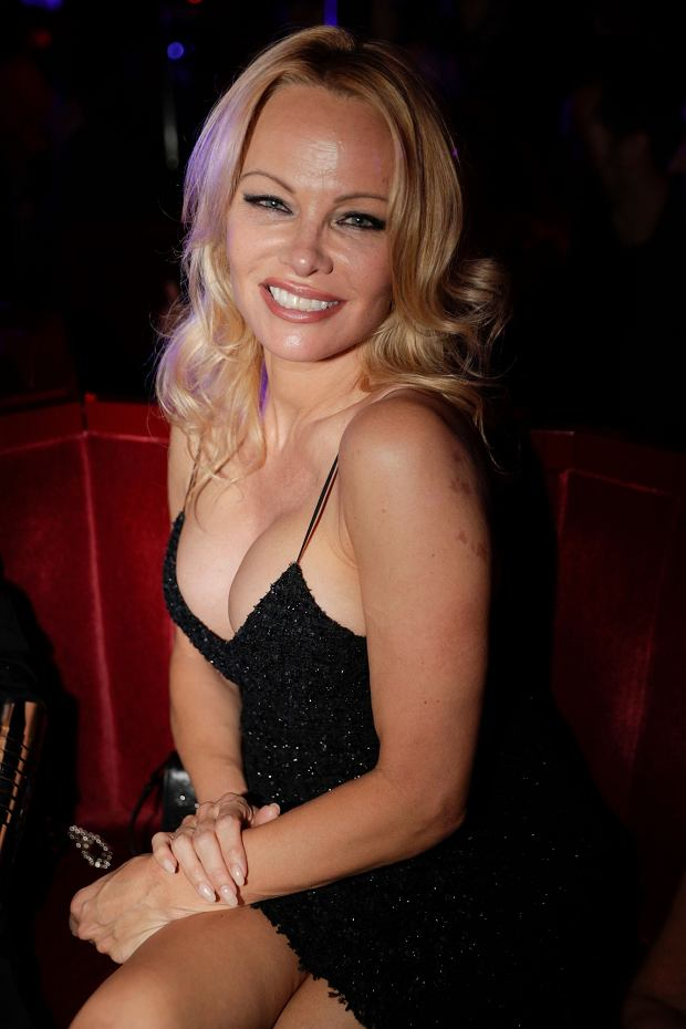 US actress Pamela Anderson attends the Premiere of the new show Bionic ShowGirl