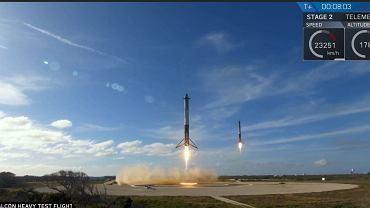 Udany powrót elementu Falcon Heavy