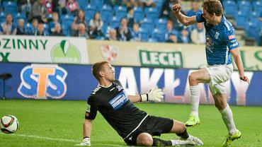 Lech Poznań - Podbeskidzie Bielsko-Biała 0:1. Kasper Hamalainen i Emiljus Zubas
