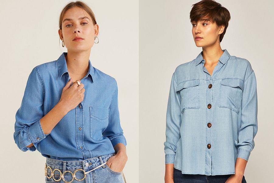 Klasyczna koszula jeansowa