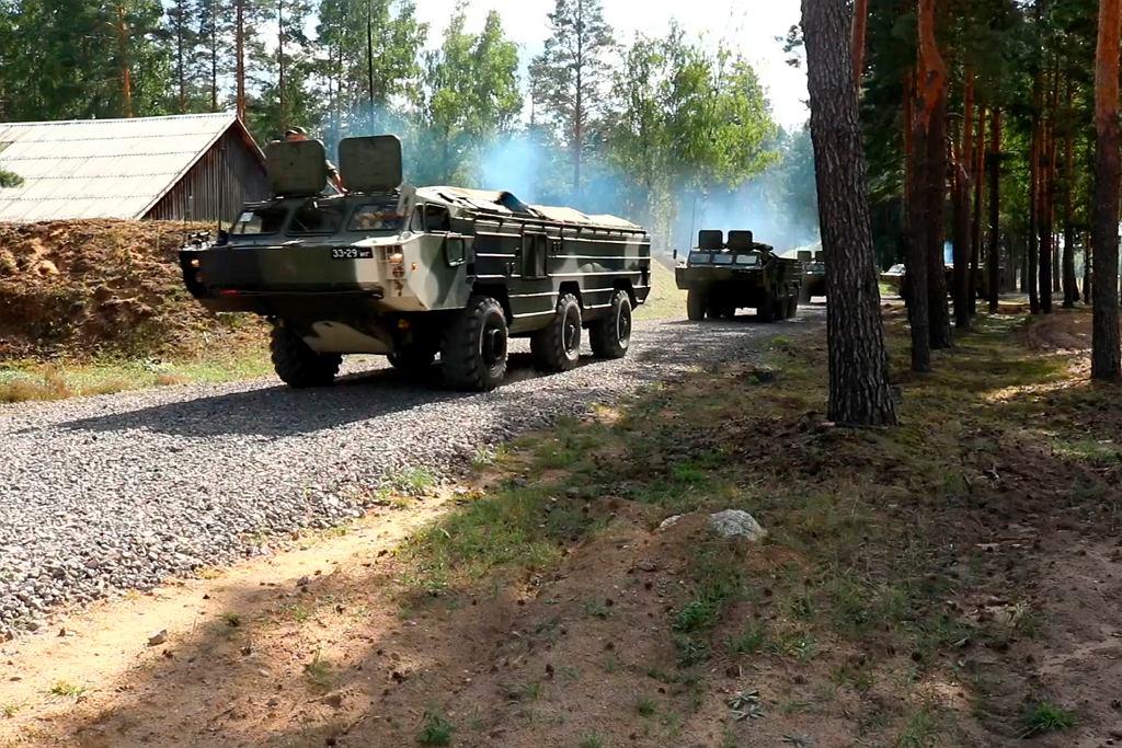 Manewry wojskowe przy granicy białoruskiej