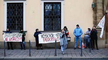 Protest przeciwko pedofilii w Kościele, Kraków 25.11.2018.