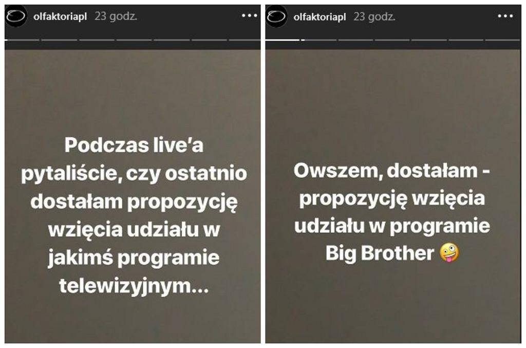 Screen z Instagrama