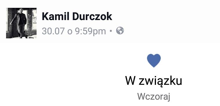 Screen z Facebooka Kamila Durczoka
