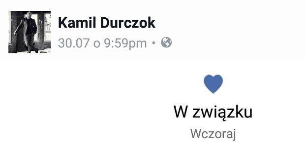 Screen z Facebooka Kamila Durczoka