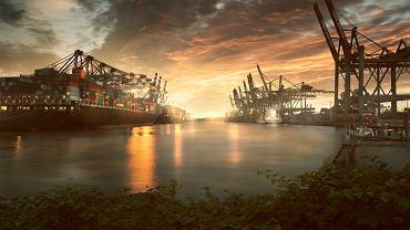 Największe porty w Europie - port w Hamburgu. Zdjęcie ilustracyjne