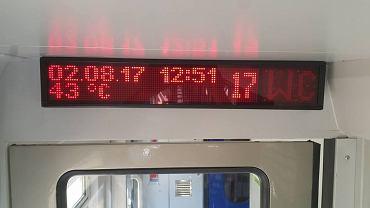 Podróżowanie polskim pociągiem czasem przypomina pobyt w saunie