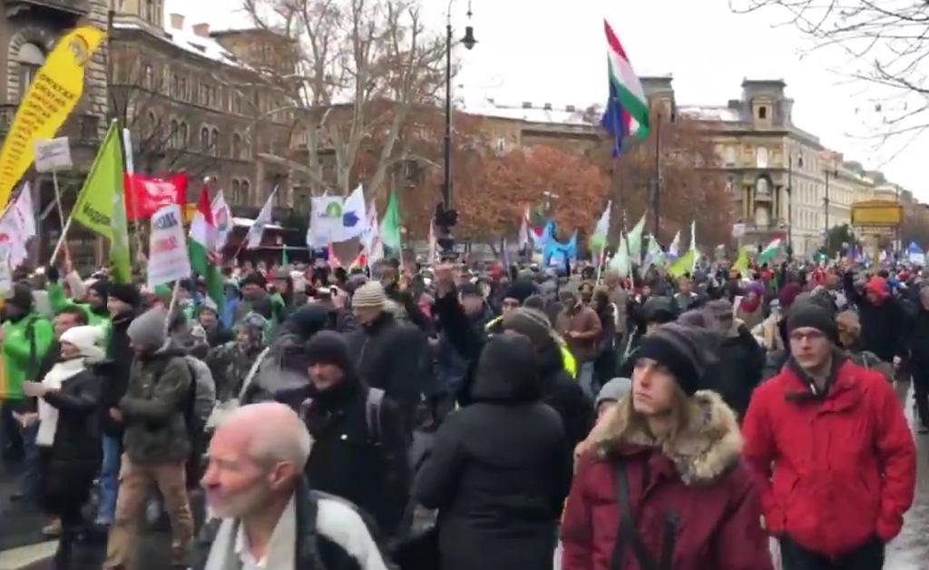 Manifestacja w Budapeszcie