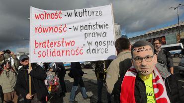 24.10.2020, Warszawa, protest przeciwników obostrzeń