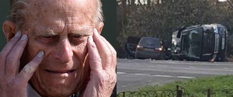 Książę Filip miał wypadek. 97-latek sam prowadził samochód