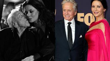 Catherine Zeta-Jones, Michael Douglas, Kirk Douglas