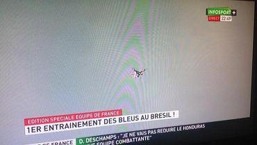 Dron na treningu Francuzów