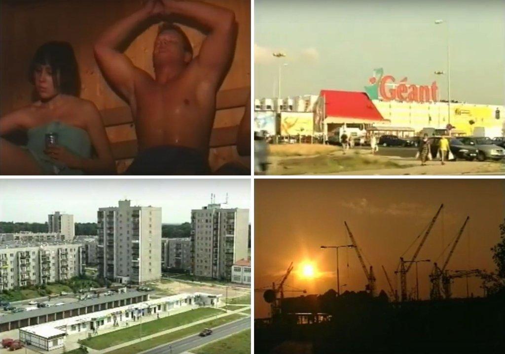Kadry z filmu promocyjnego Ursynowa z 1999 roku