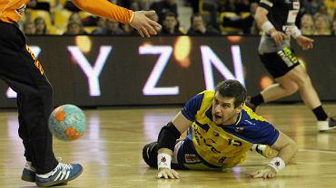 Julen Aginagalde podczas meczu Vive Targi Kielce - MMTS Kwidzyn