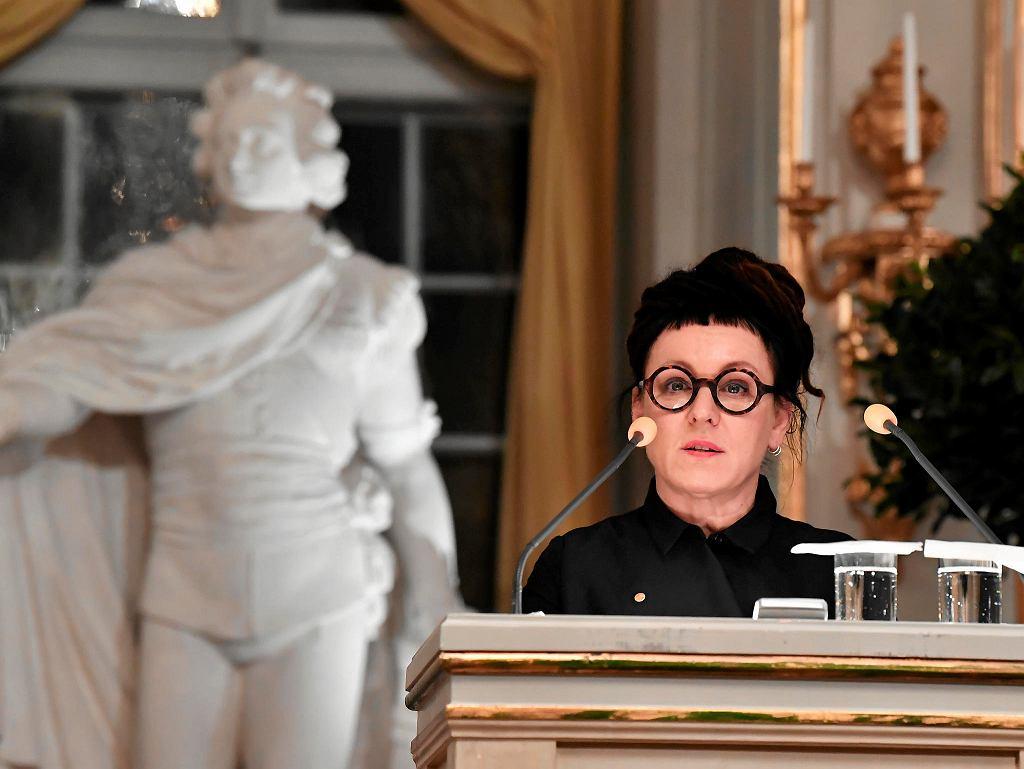 Olga Tokarczuk wygłasza mowę noblowską