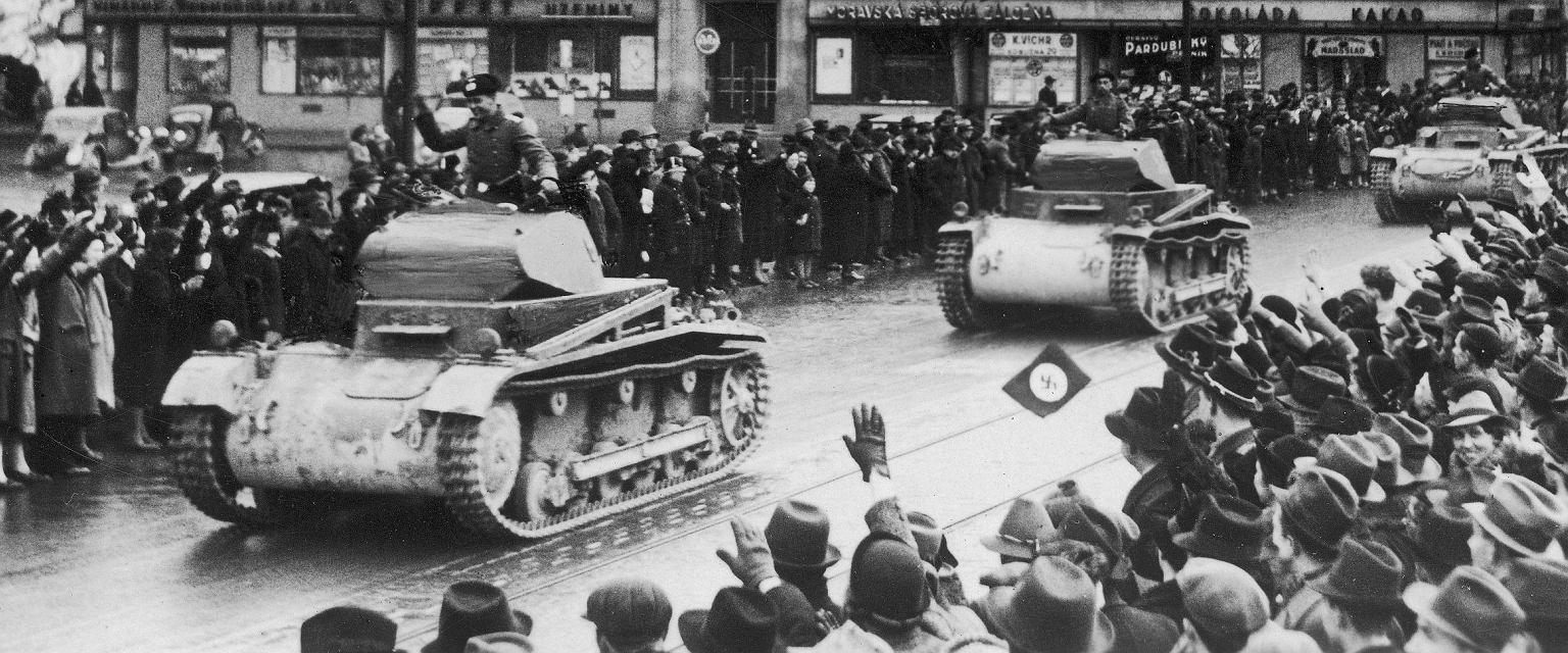 Wkroczenie Niemców do Czechosłowacji (fot. Narodowe Archiwum Cyfrowe)