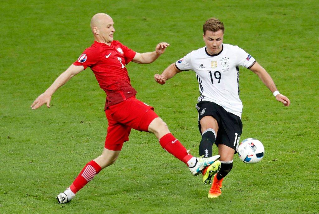 Michał Pazdan na meczu Polska-Niemcy