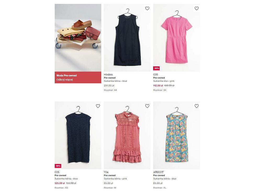 Używane sukienki w zakładce Pre-owned na Zalando.pl