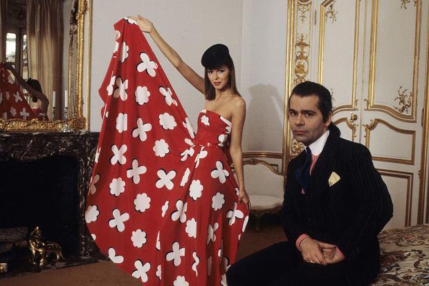Karl Lagerfeld w 1978 r.