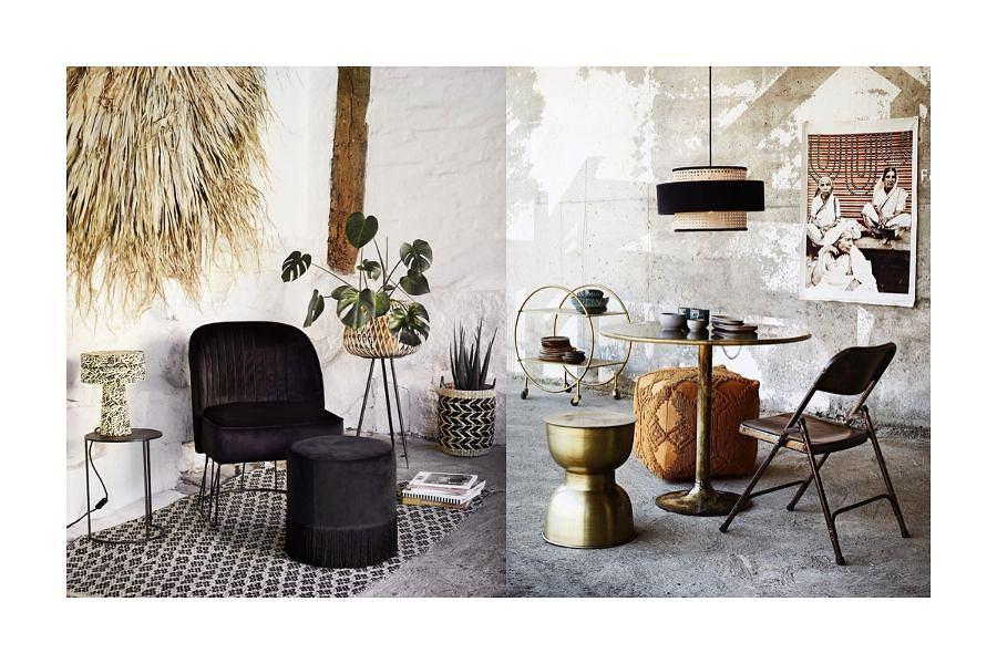 Nowa era designu: cętki, trójkąty, frędzle, aksamity w jednym pokoju