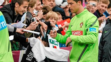 Cristiano Ronaldo po treningu w Opalenicy