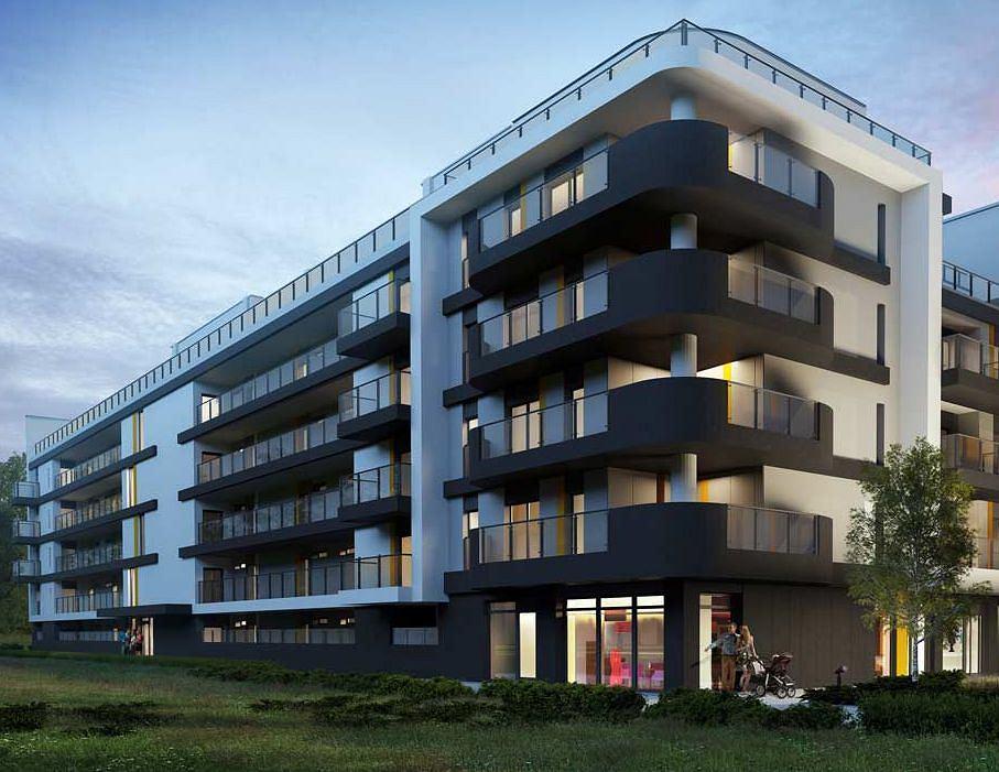 Mieszkania w Poznaniu. Atal w ramach inwestycji Apartamenty Milczańska (ul. Niemena) buduje blok mieszkalny, który w części północnej jest galeriowcem