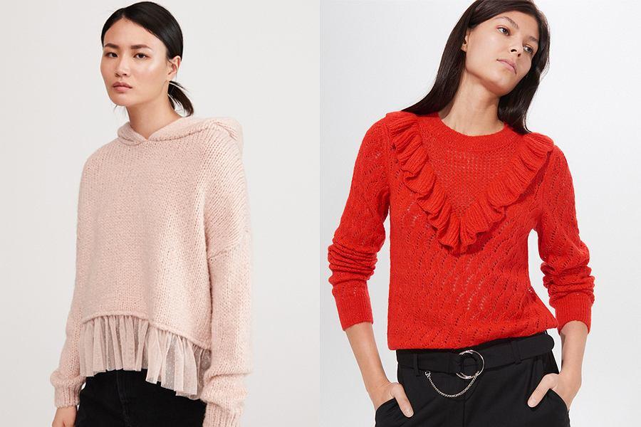 Zdobione swetry damskie