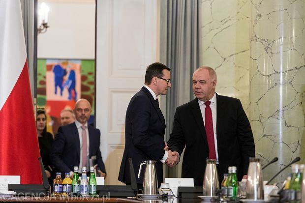 (Posiedzenie Rady Gabinetowej w Warszawie