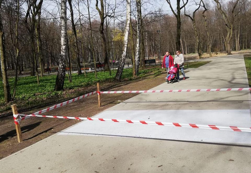Zdjęcie numer 3 w galerii - Wandal zniszczył alejki w parku Zielona.