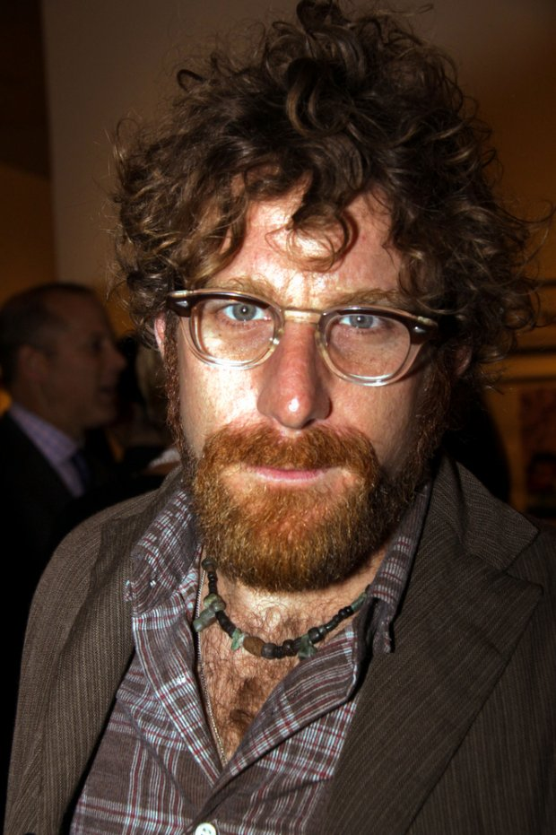 "10/07/2009 - Dustin Yellin - 18th Annual New York Academy of Art's ""Take Home a Nude"" Art Auction Benefit - Sotheby's - New York City, NY, USA - Keywords: Glasses, eyeglasses, facial hair, beard, nceklace, brown jacket, brown plaid shirt - 0 -  - Photo Credit: Wild1 / PR Photos - Contact (1-866-551-7827)"
