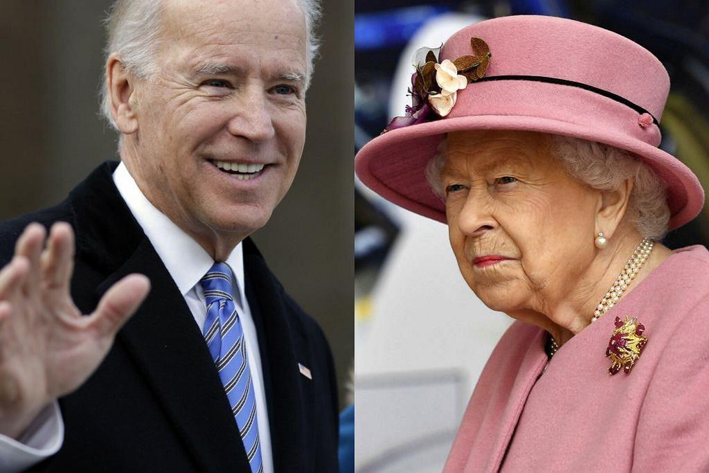 Joe Biden, królowa Elżbieta II