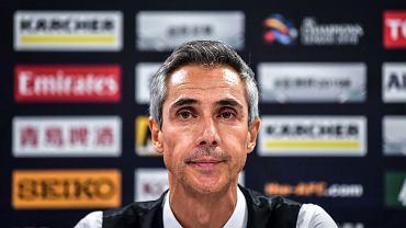 Paulo Sousa - tu jako trener chińskiego klubu Tianjin Quanjian w 2018 r