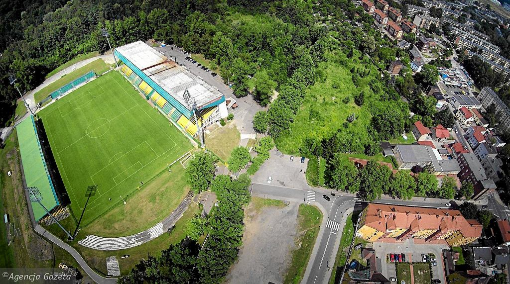 Widok z góry na obecny stadion GKS-u Katowice