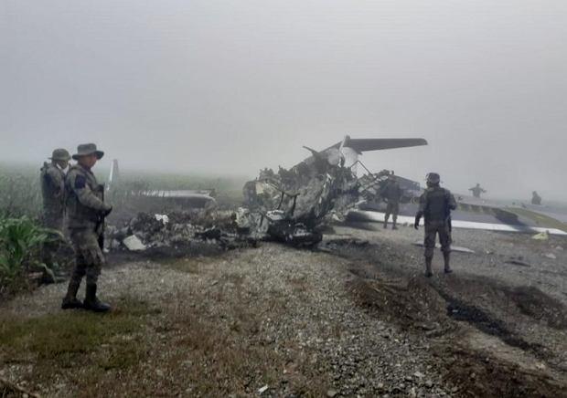 Tak najczęściej są znajdowane samoloty przemytników - spalone dla zatarcia śladów