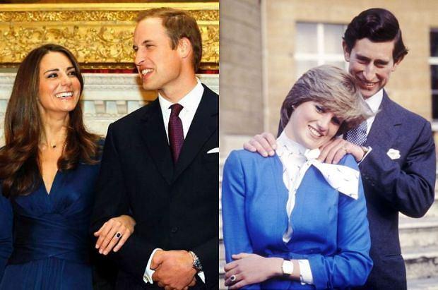 Księżna Kate, książę William, księżna Diana, książę Karol